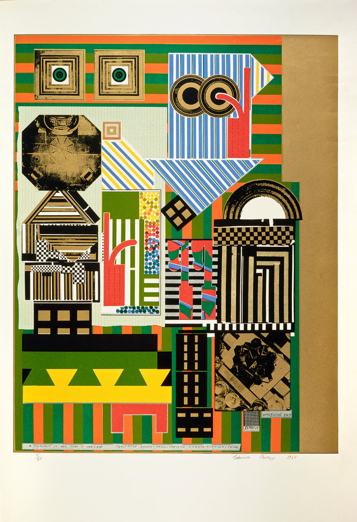 Detail of Artificial sun. From As is when by Eduardo Paolozzi