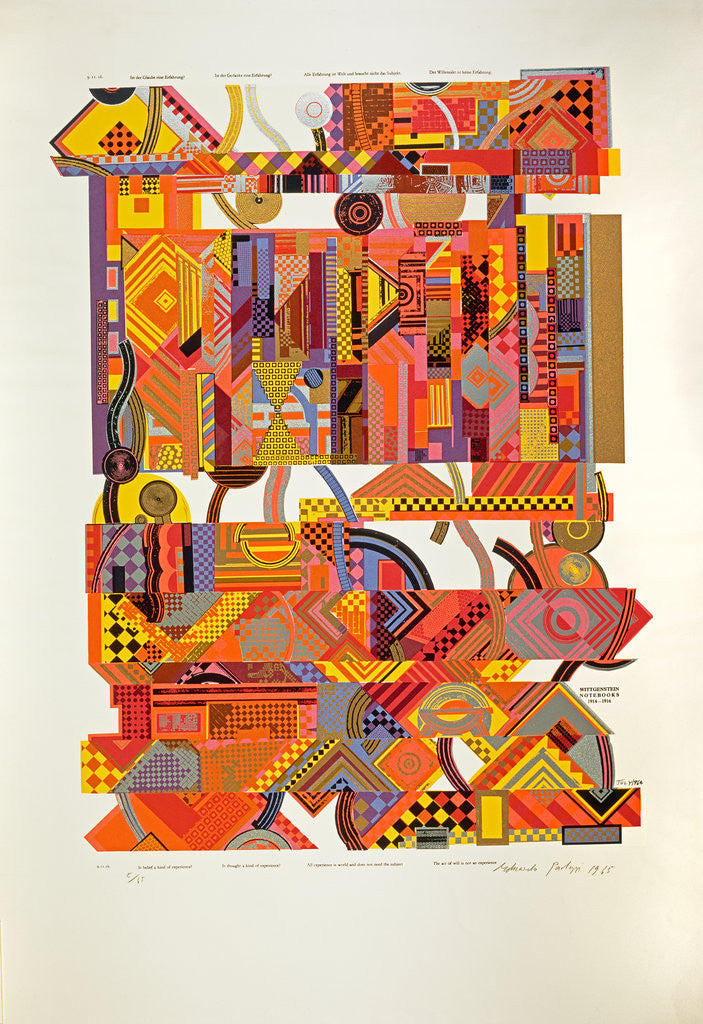 Detail of Experience. From As is when by Eduardo Paolozzi