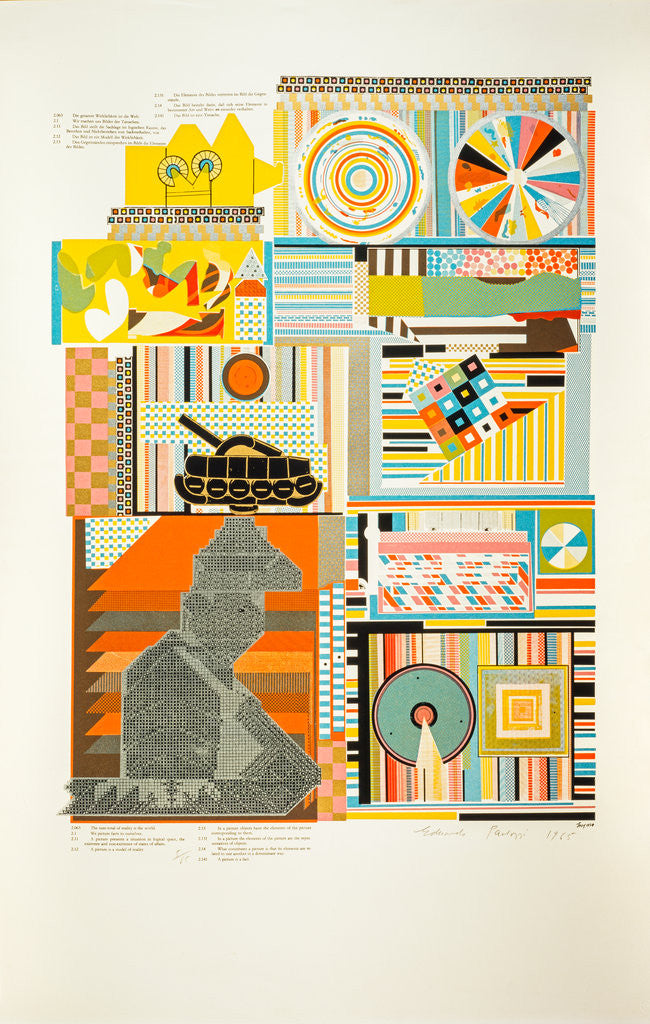 Detail of Reality. From As is when by Eduardo Paolozzi