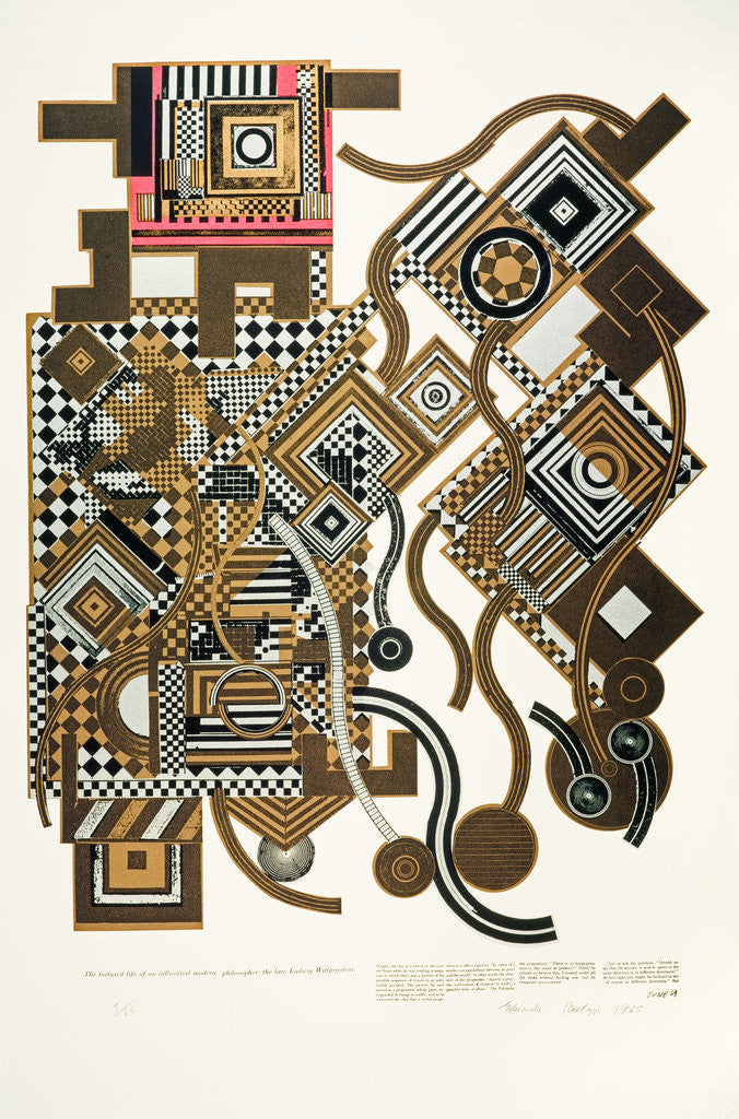 Detail of Tortured Life. From As is when by Eduardo Paolozzi