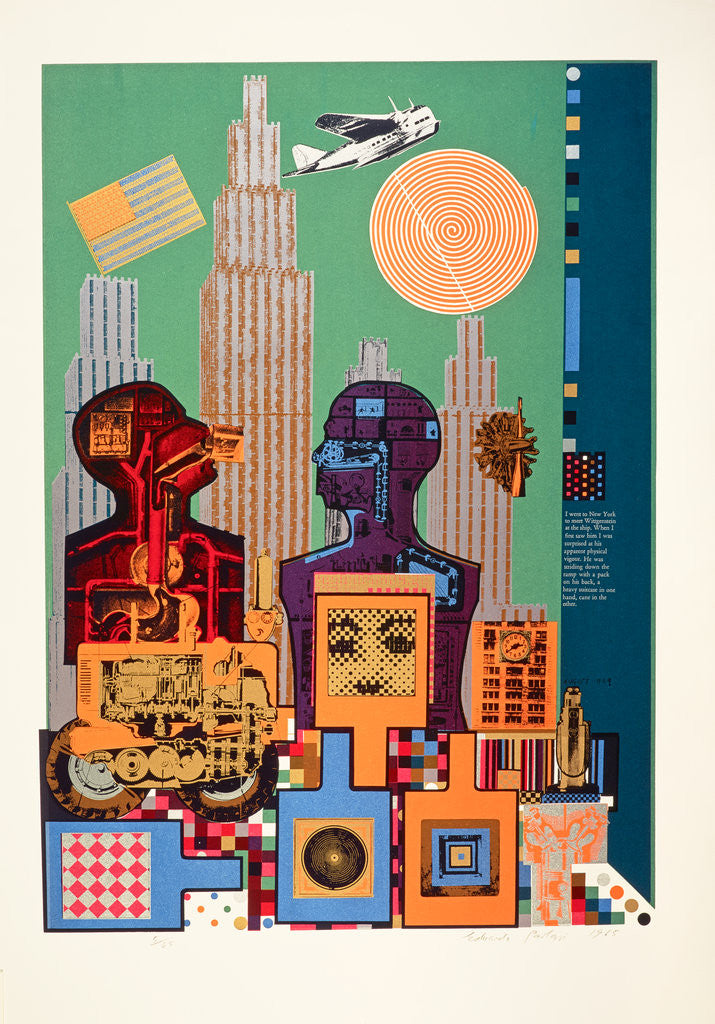 Detail of Wittgenstein in New York. From As is when by Eduardo Paolozzi