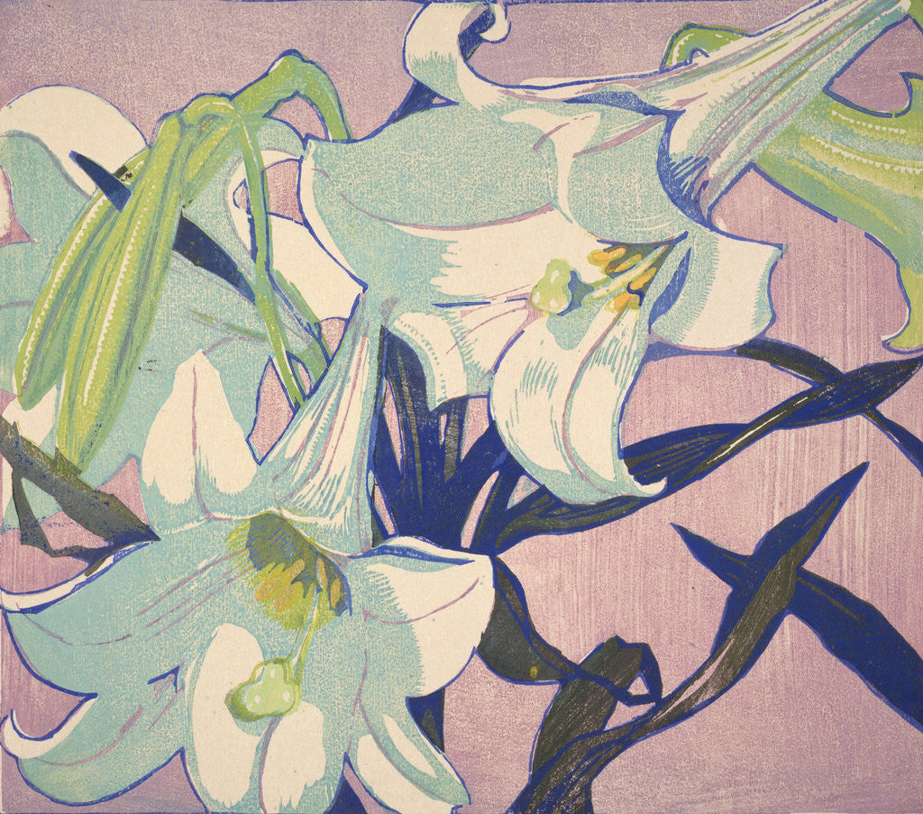 Detail of White Lilies by Mabel Royds