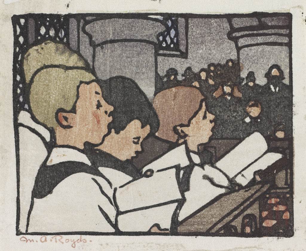 Detail of Choir Boys by Mabel Royds
