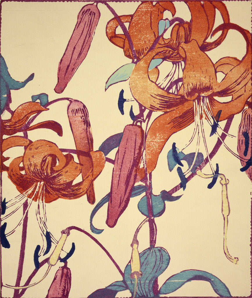 Detail of Tiger Lilies by Mabel Royds
