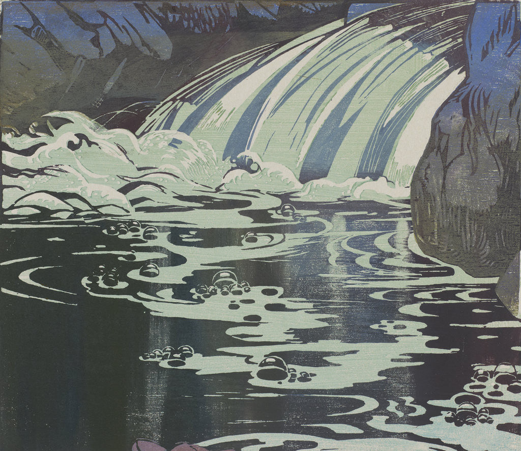 Detail of The Waterfall by Mabel Royds