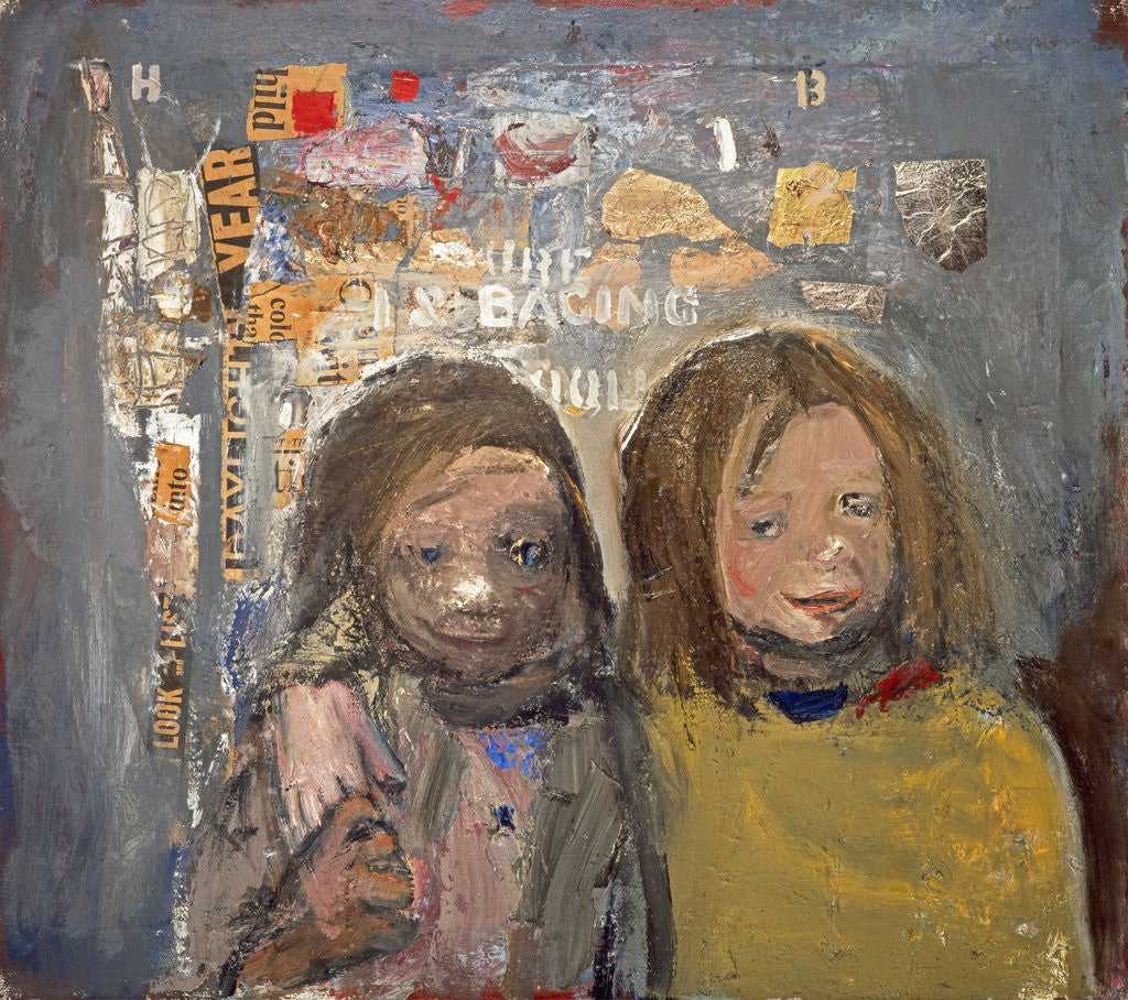 Detail of Children and Chalked Wall 3 by Joan Eardley