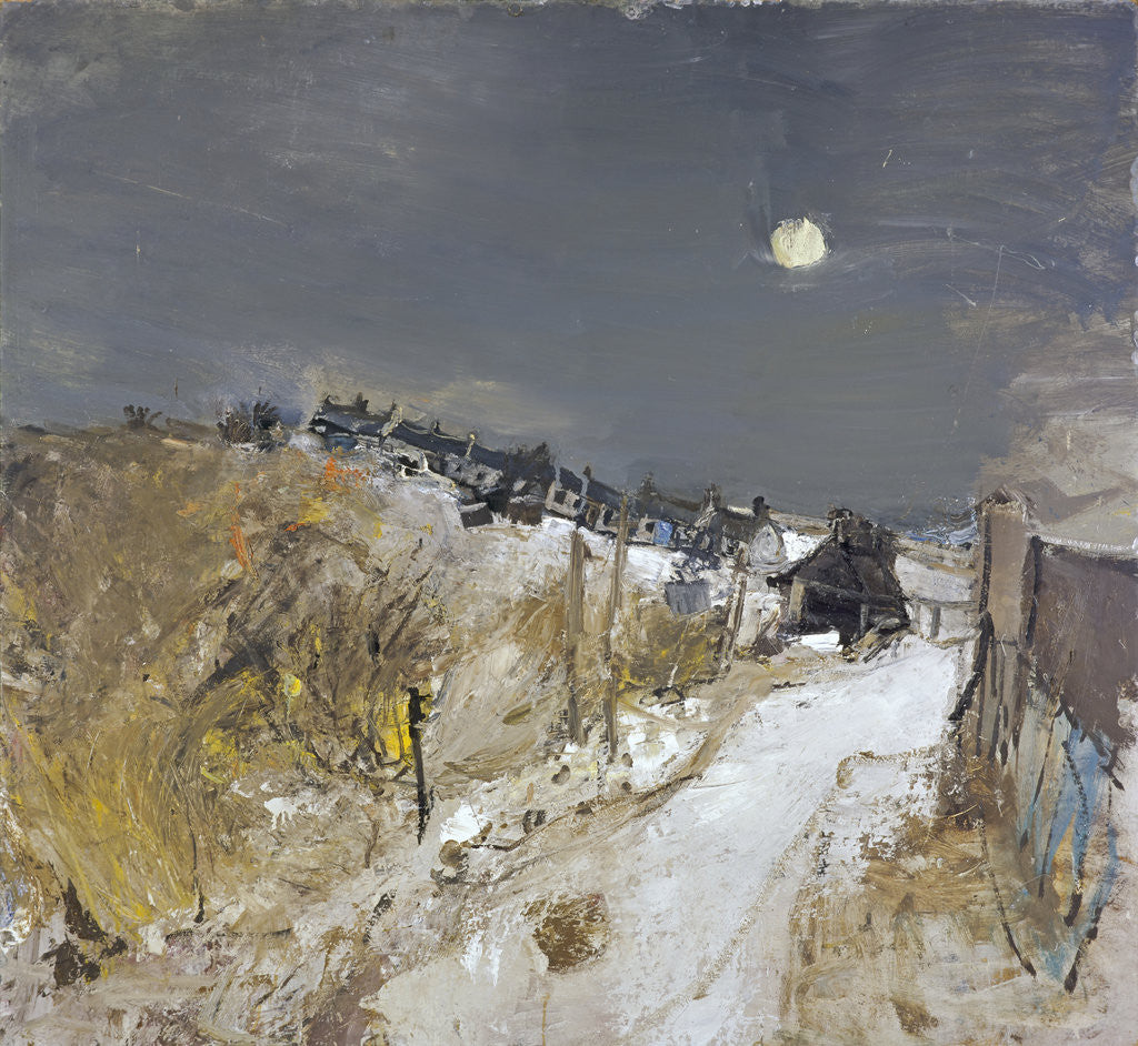 Detail of Catterline in Winter by Joan Eardley