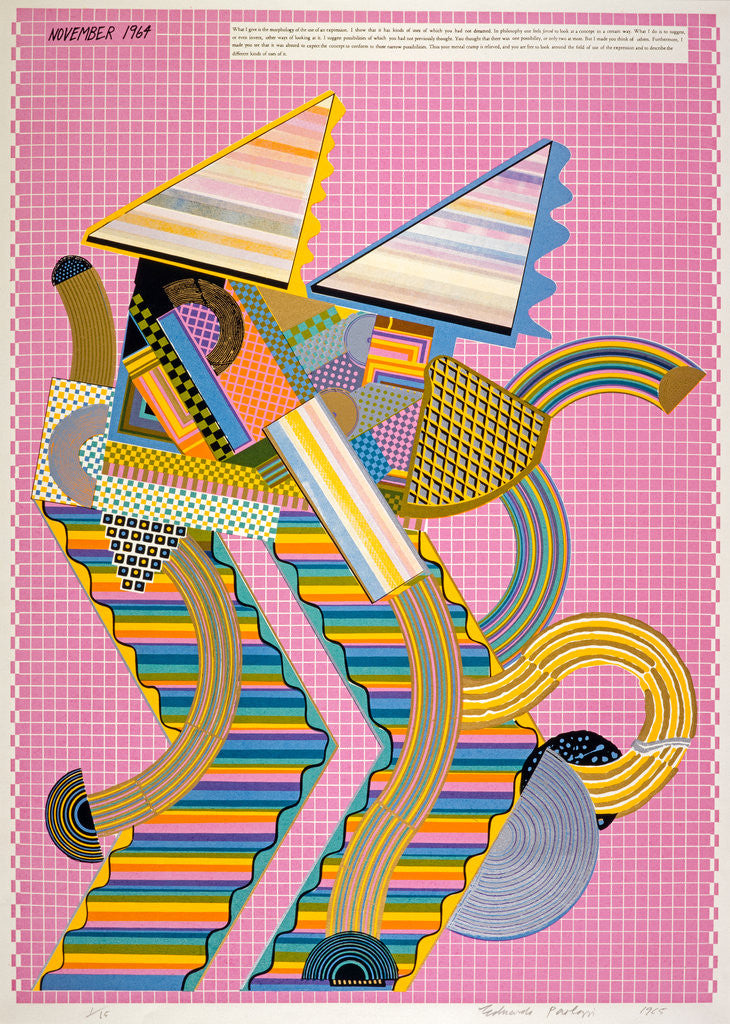 Detail of Parrot (from the portfolio 'As is When') by Eduardo Paolozzi