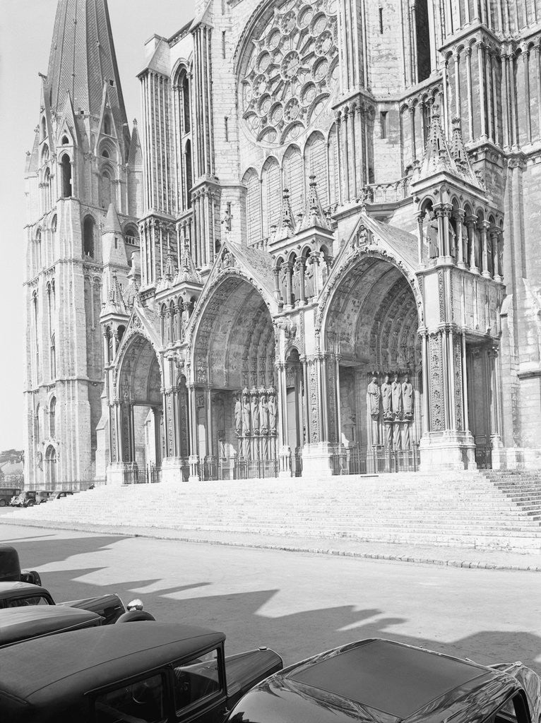 Detail of Exterior Showing the Cathedral of Chartres by Corbis