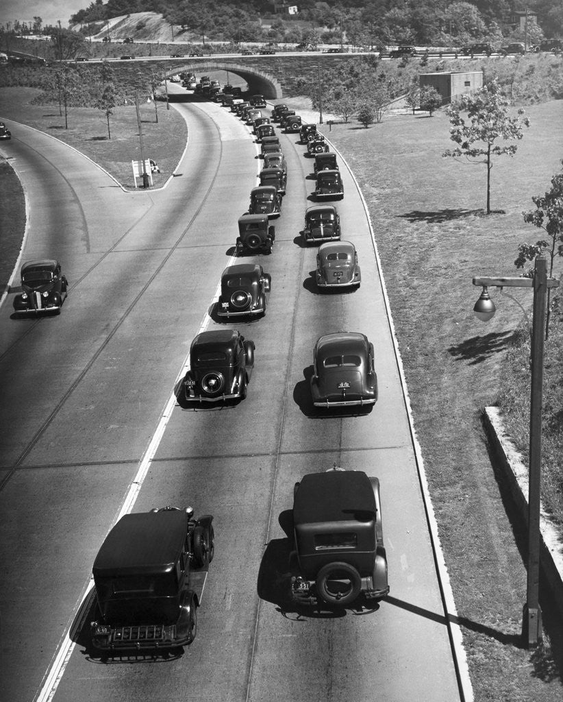Detail of View of Traffic Jam on Grand Central Parkway by Corbis