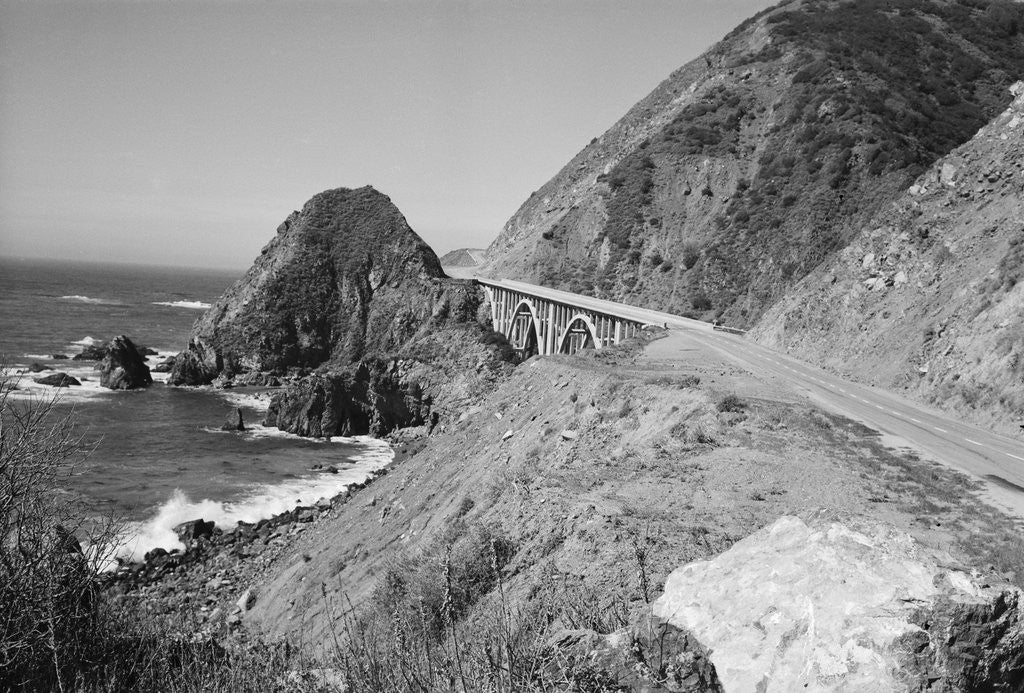Detail of California Highway 1 by Corbis
