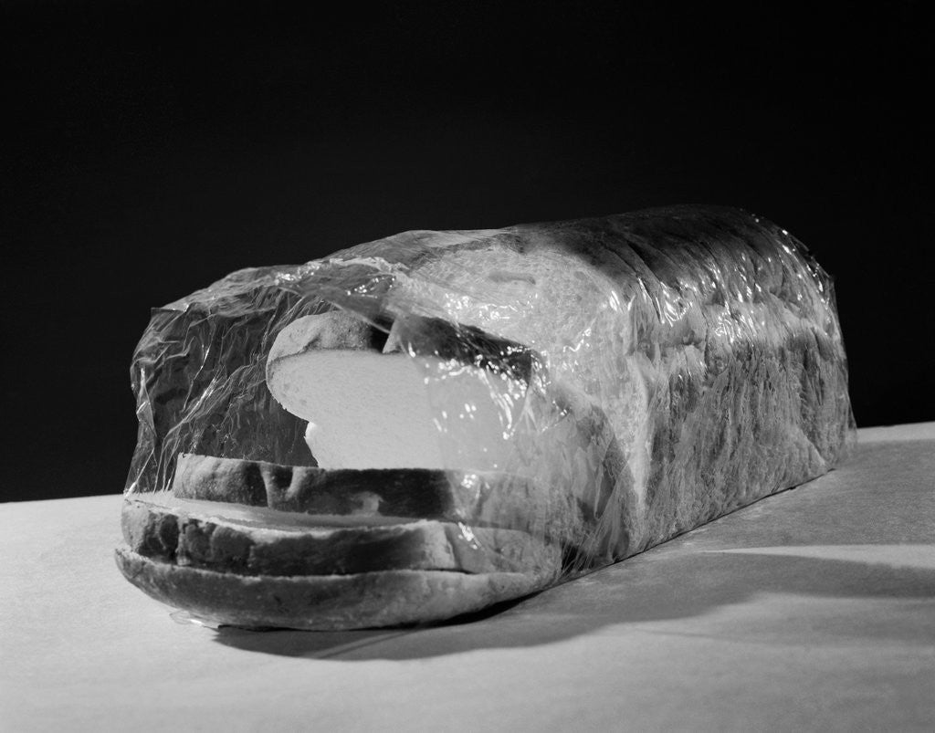 Detail of Bread Wrapped in Cellophane by Corbis