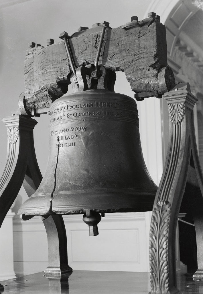 Detail of Liberty Bell in Independence Hall by Corbis