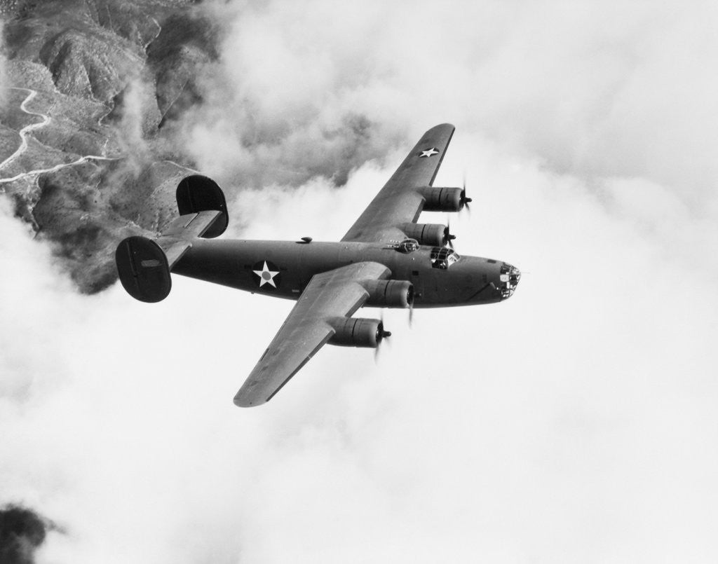 Detail of B-24 Liberator Flying by Corbis