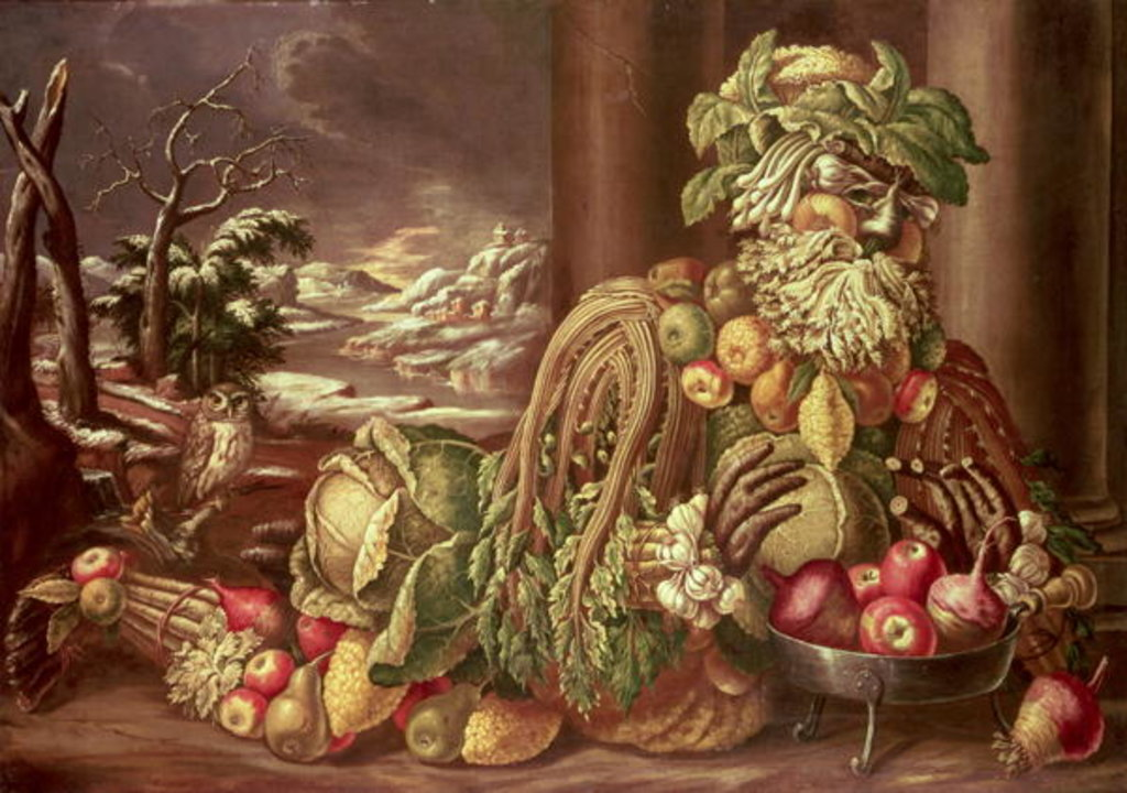 Detail of Winter by Giuseppe Arcimboldo