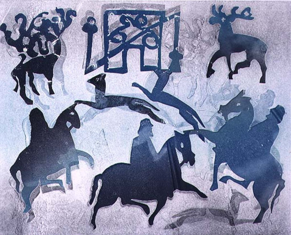 Detail of Pictish Hunting Scene III by Gloria Wallington