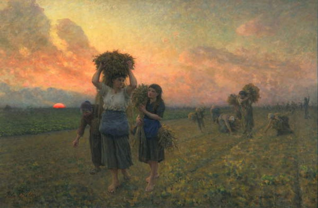 Detail of The Last Gleanings, 1895 by Jules Breton