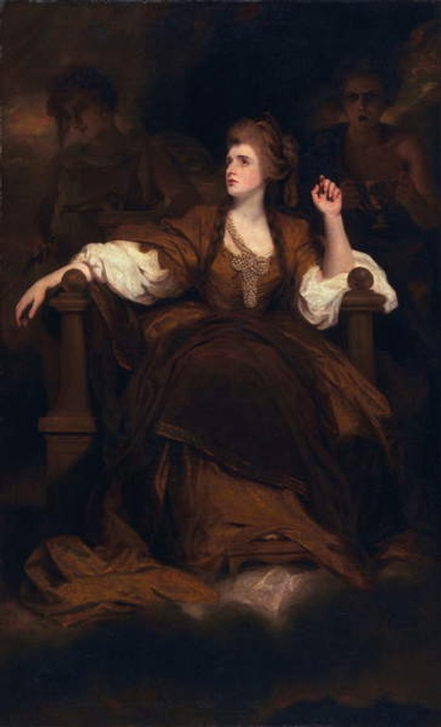 Detail of Sarah Siddons as the Tragic Muse, 1783-84 by Joshua Reynolds