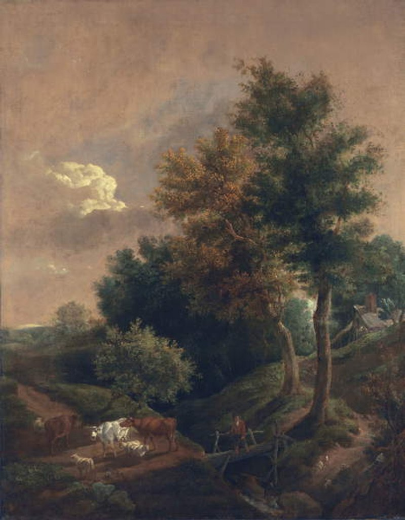 Detail of The edge of a common, c.1815 by John Crome