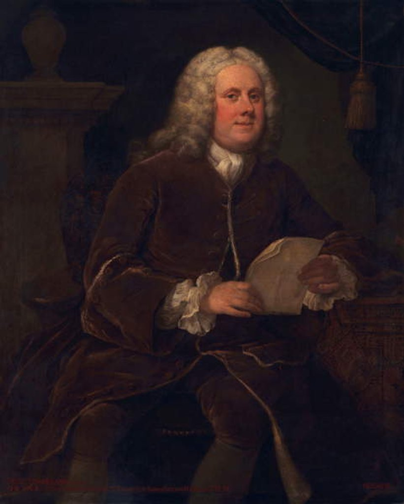 Detail of Frederick Frankland, c.1739-40 by William Hogarth