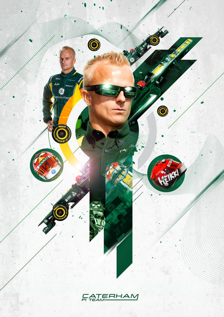 Detail of Heroic Heikki, Heikki Kovalainen by Jason Pooley