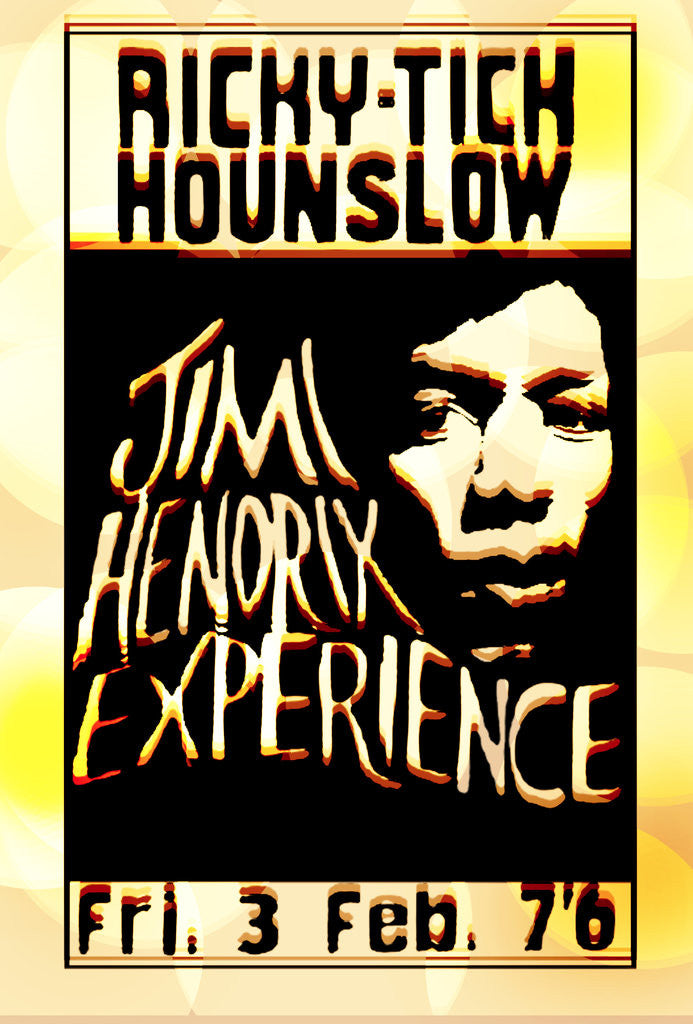 Detail of Jimi Hendrix Experience Poster (Distressed Look) by Rokpool