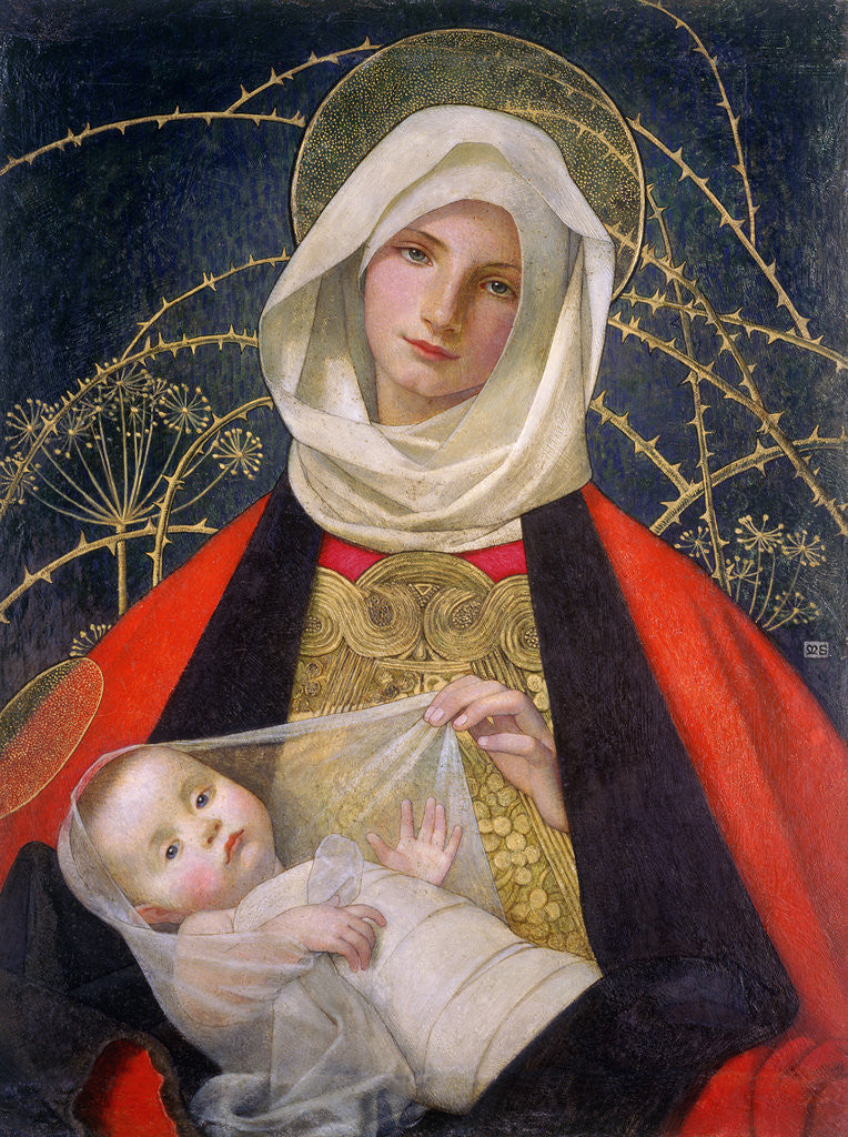 Detail of Madonna and Child by Marianne Stokes