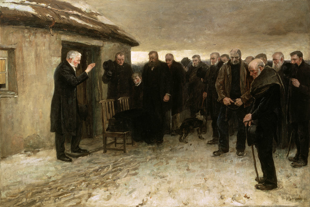 Detail of A Highland Funeral by Sir James Guthrie