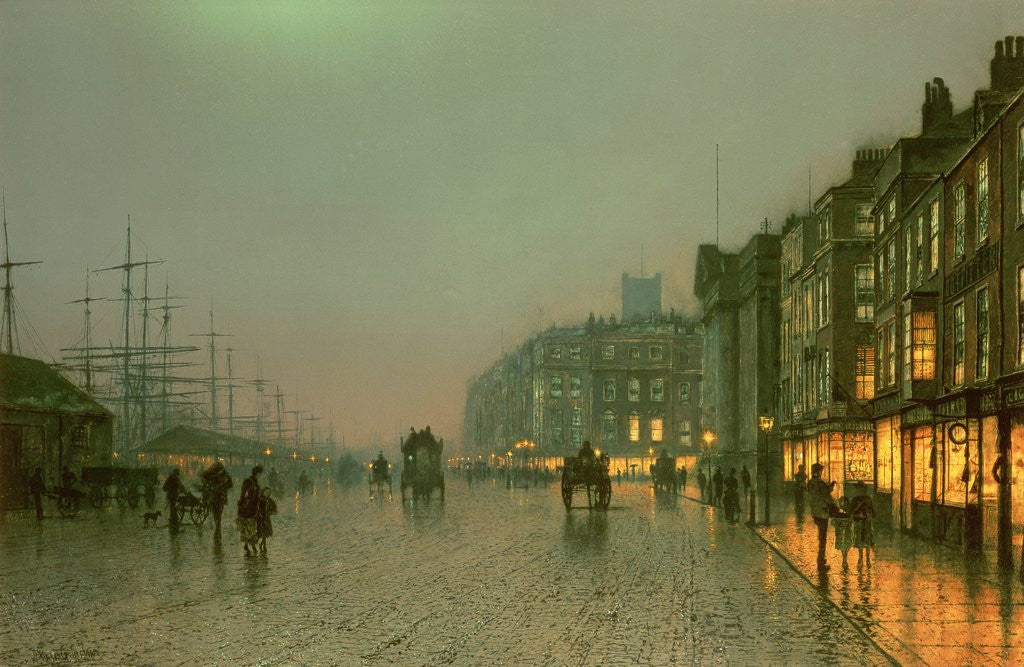 Detail of Liverpool Docks from Wapping by John Atkinson Grimshaw