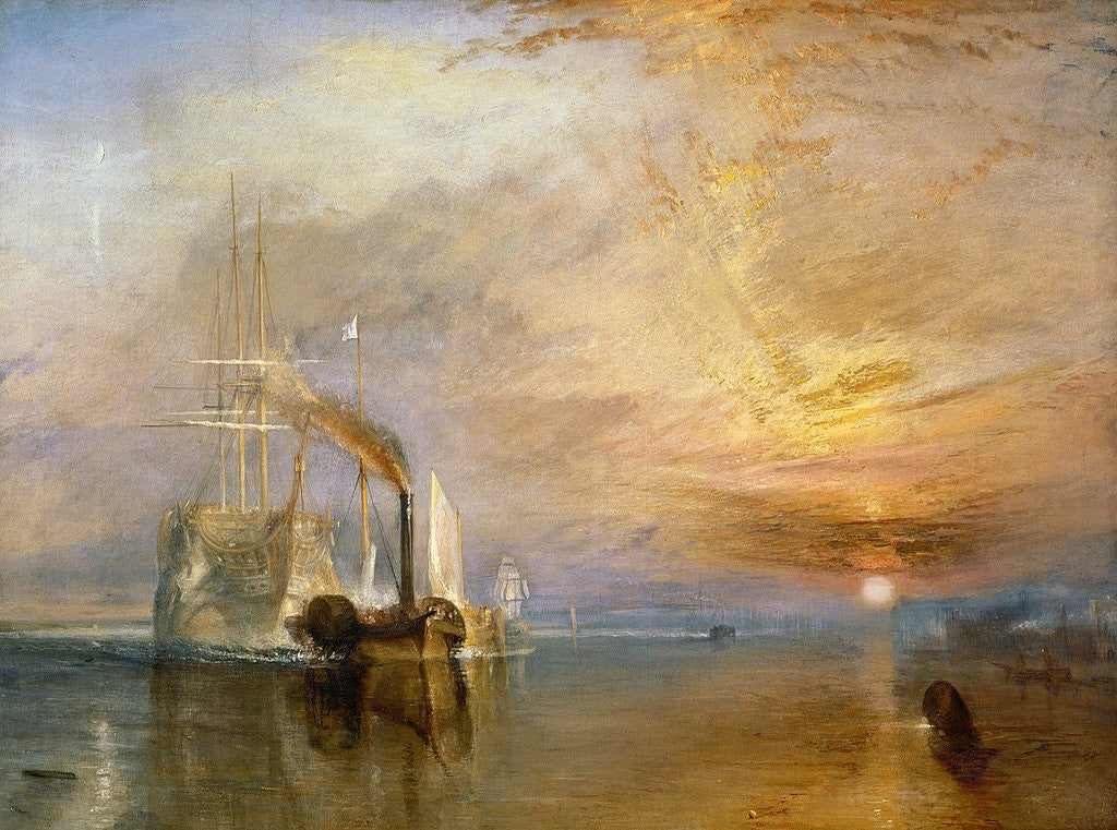 Detail of The Fighting Temeraire by Joseph Mallord William Turner