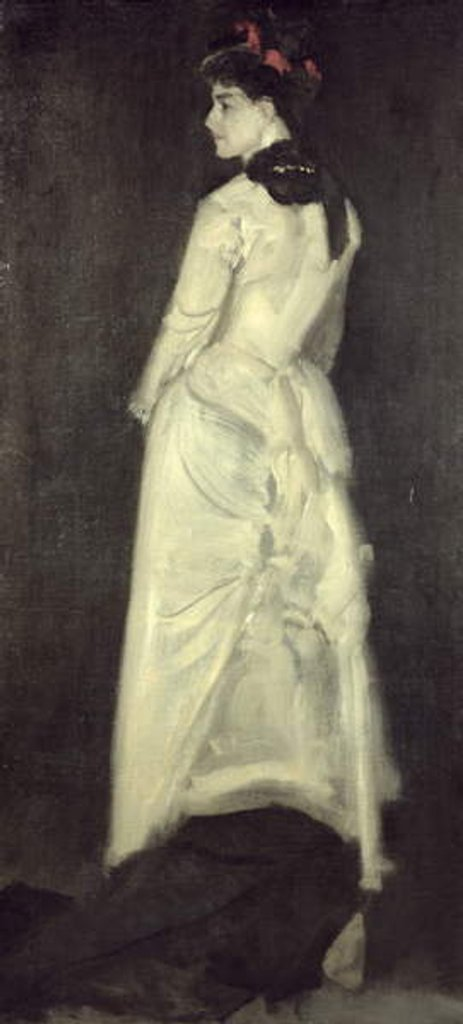 Detail of Harmony in Flesh Colour and Black: Portrait of Miss Louise Jopling by James Abbott McNeill Whistler