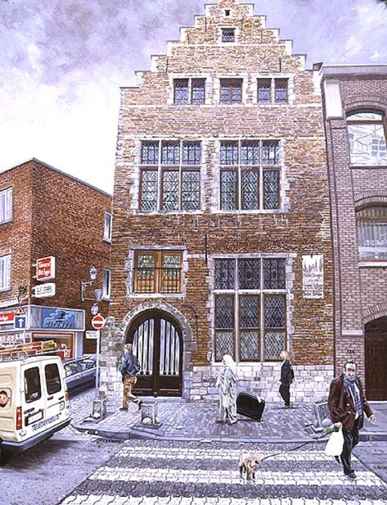 Pieter Brueghel's House in Brussels, 1996 by Huw S. Parsons