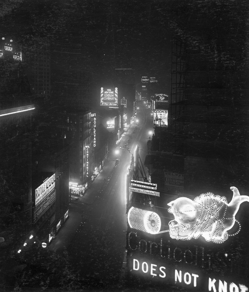 Detail of Broadway from Times Square by Corbis