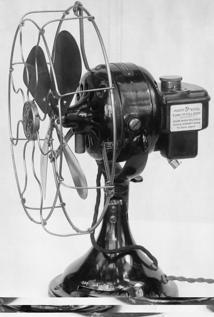 Detail of General Electric Coin Operated Fan by Corbis