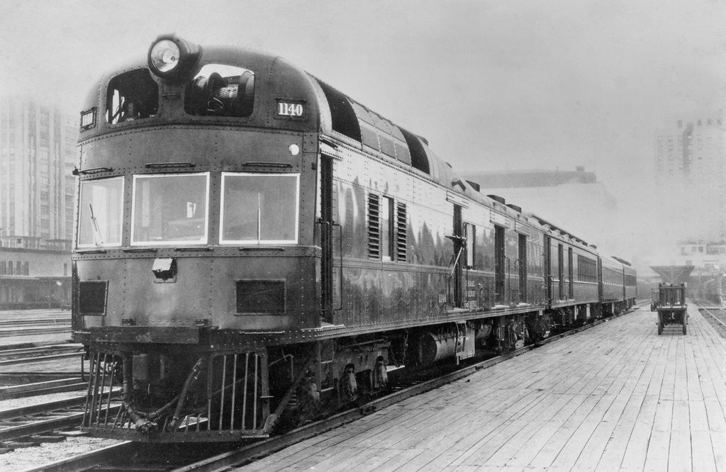 Detail of Diesel Electric Rail Car at North Station by Corbis