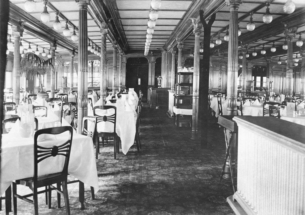 Detail of Elegant Dining Area on Shipboard by Corbis