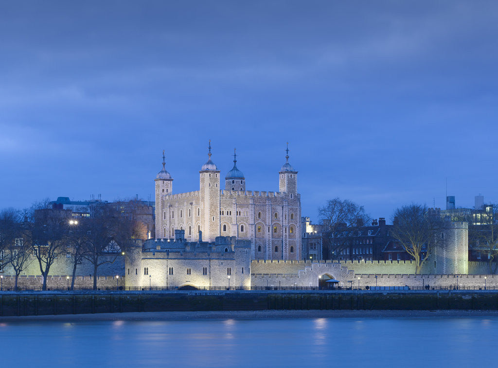 Detail of The Tower of London at dusk by James Brittain