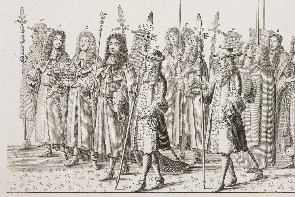 Detail of James II coronation procession by Francis Sandford