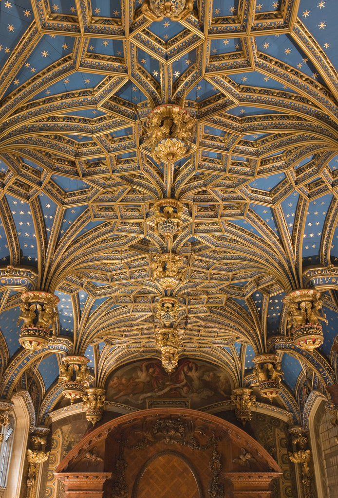 Detail of The Chapel Royal ceiling, Hampton Court Palace by James Brittain