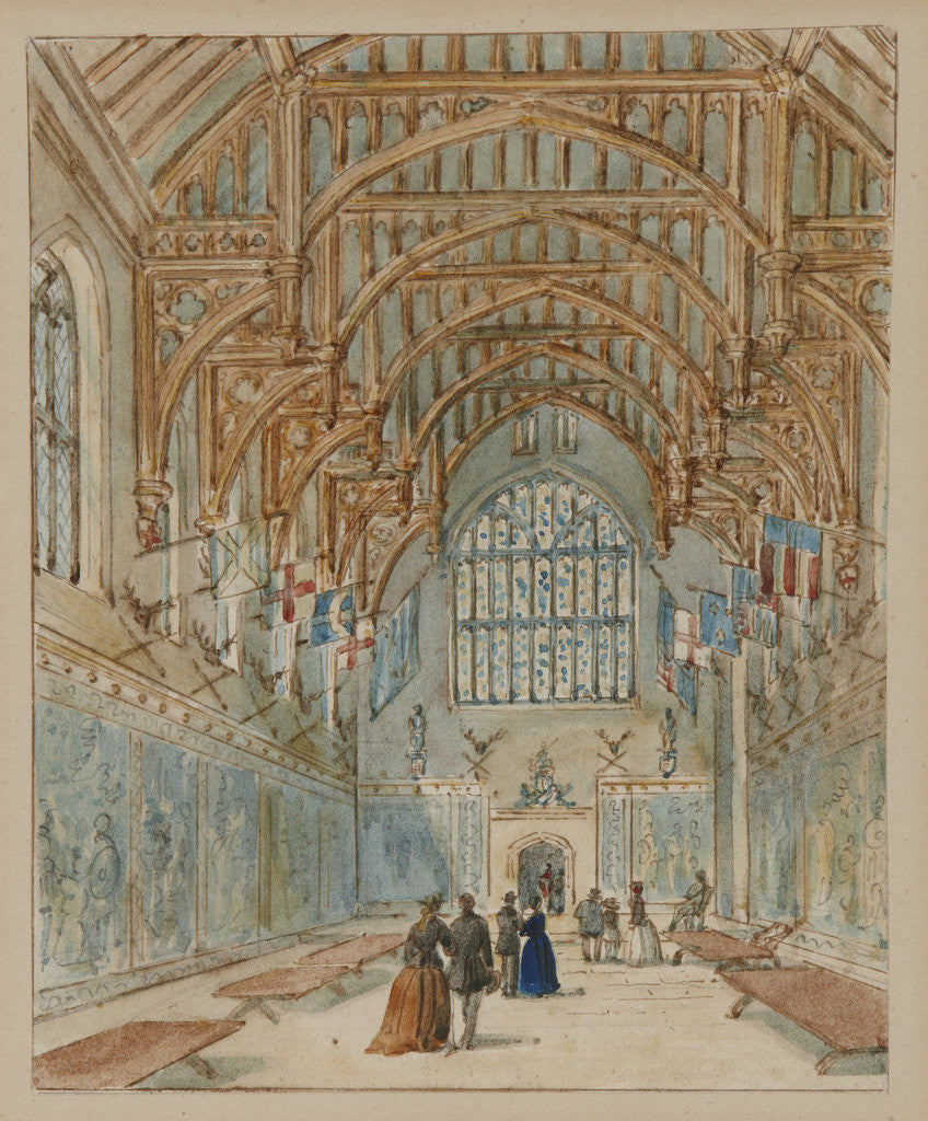 Detail of The Great Hall, Hampton Court Palace by Unknown