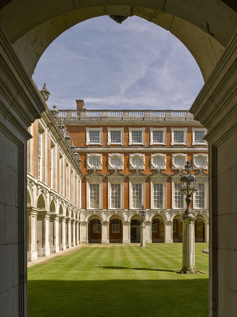 Detail of Fountain Court, Hampton Court Palace by James Brittain