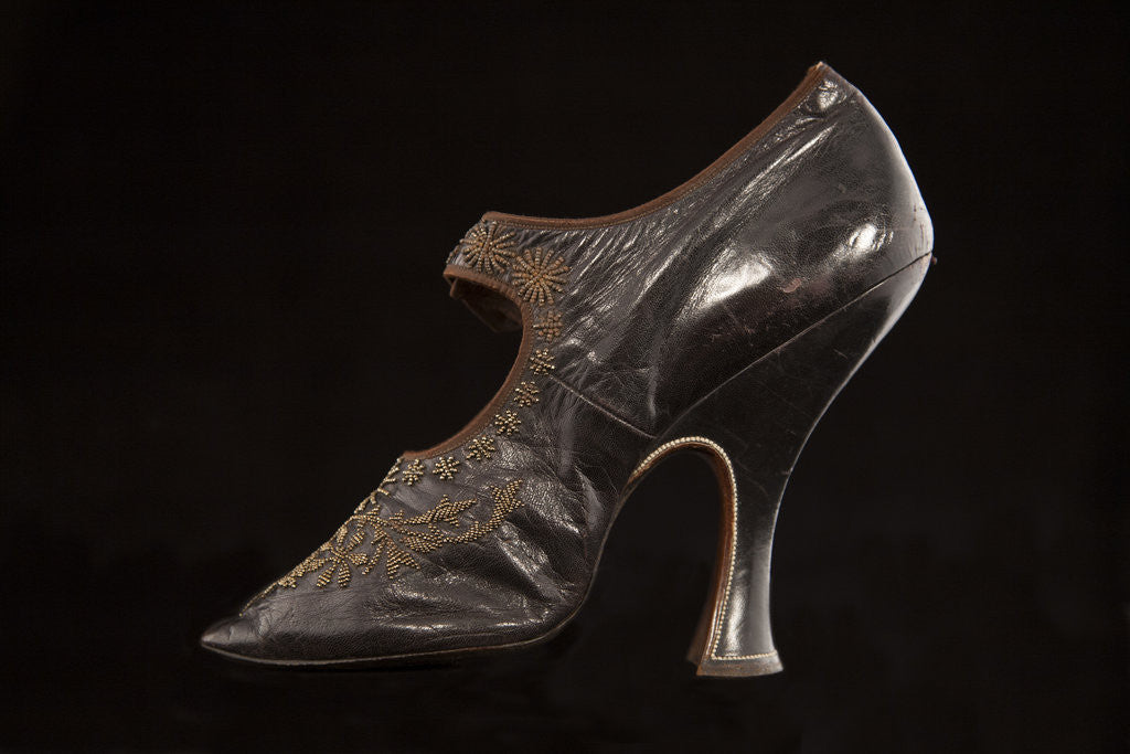 Detail of Lady's court shoe, c1895-1900 by Unknown