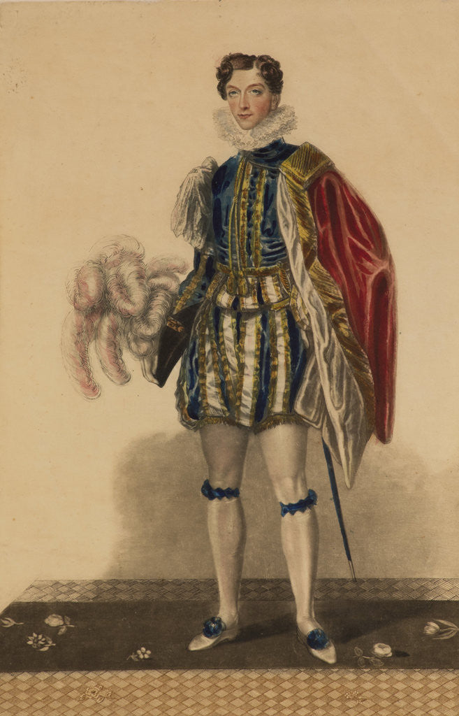 Detail of Fashion plate for the coronation of King George IV, 1821 by Unknown
