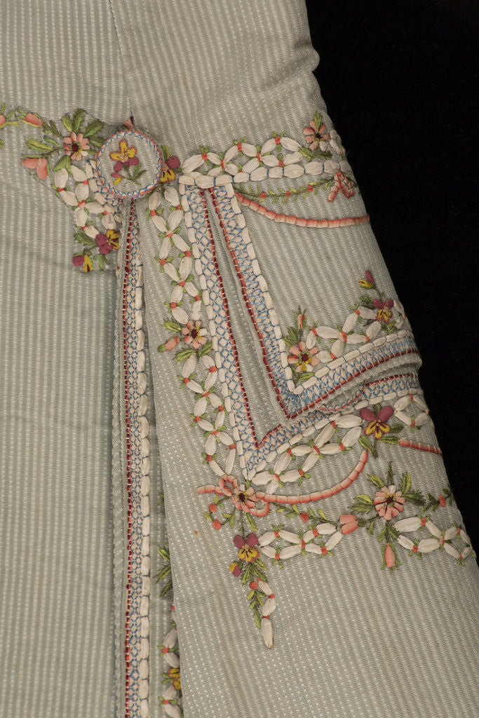 Detail of Gentleman's court suit, c1780 by Unknown