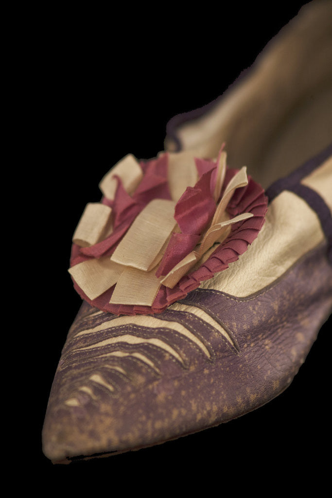 Detail of Lady's court shoe with rosette, c1790s by Unknown
