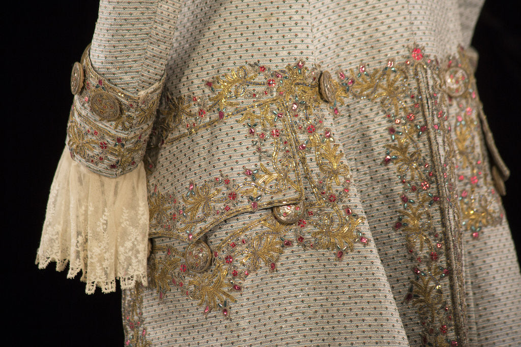 Detail of Gentleman's court coat, c1760-90 by Unknown