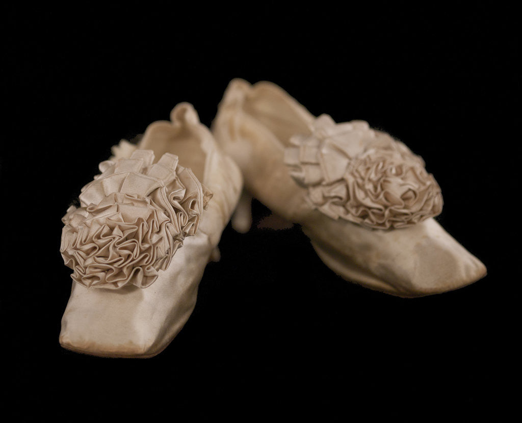 Detail of Lady's court shoes with rosette, c1850-1900 by Unknown