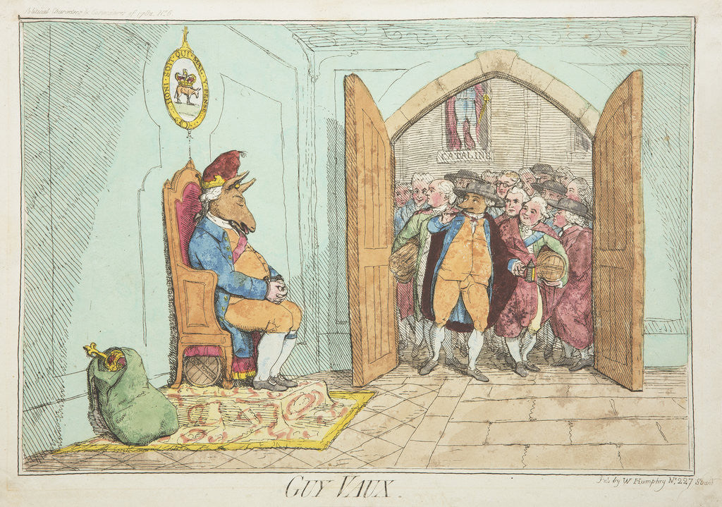 Detail of Guy Vaux by James Gillray, 1782 by James Gillray