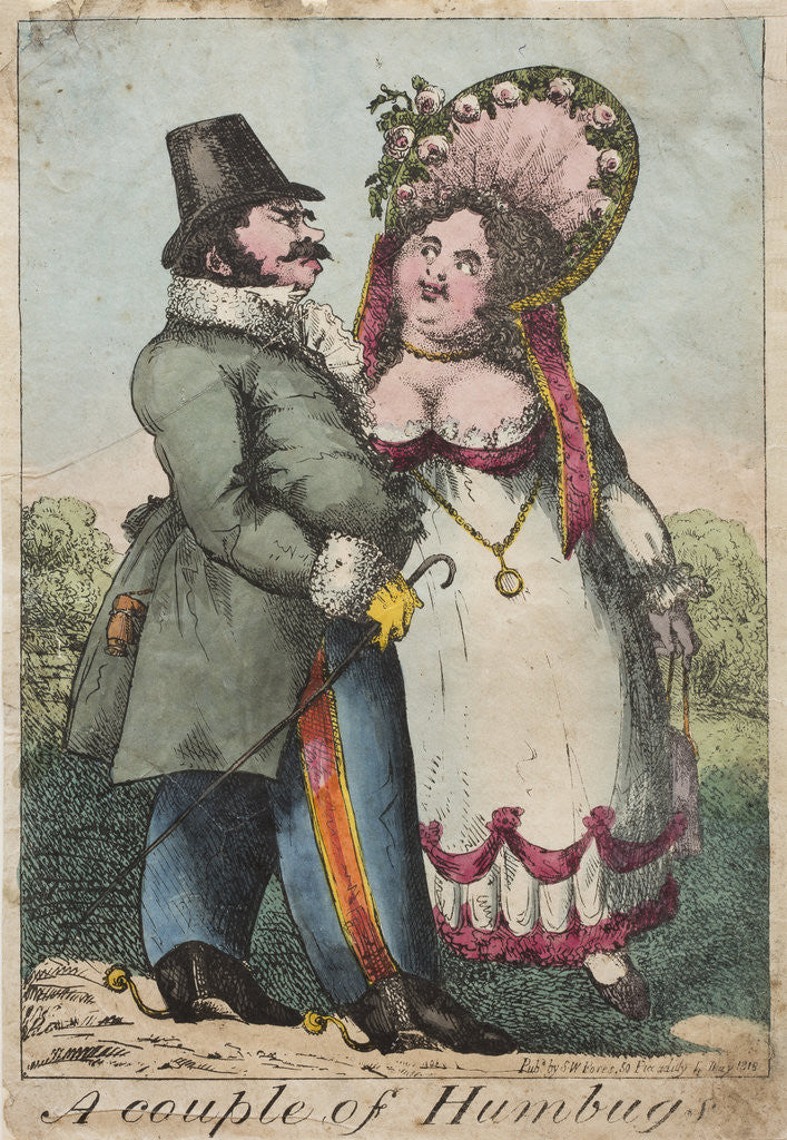 Detail of A couple of Humbugs, 1818 by Unknown