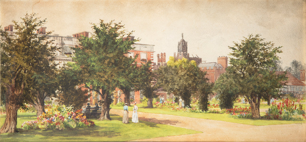 Detail of Hampton Court gardens, c1910 by Unknown